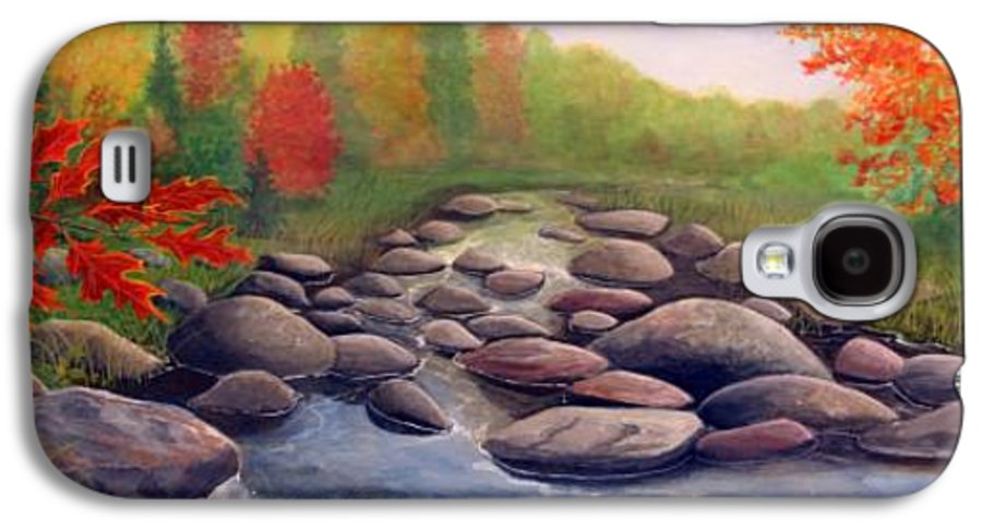 Rick Huotari Galaxy S4 Case featuring the painting Cherokee Park by Rick Huotari