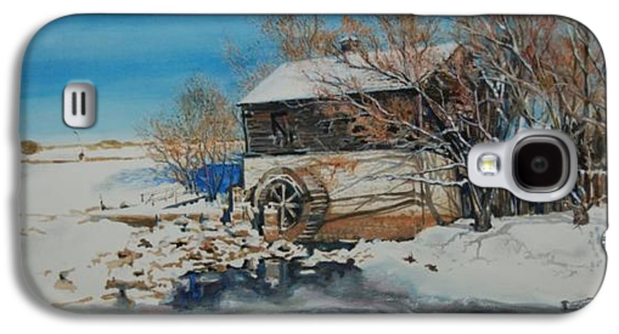 Mill Galaxy S4 Case featuring the painting Grants Old Mill by Susan Moore