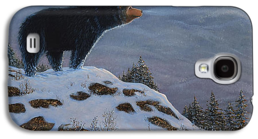 Wildlife Galaxy S4 Case featuring the painting Last Look Black Bear by Frank Wilson