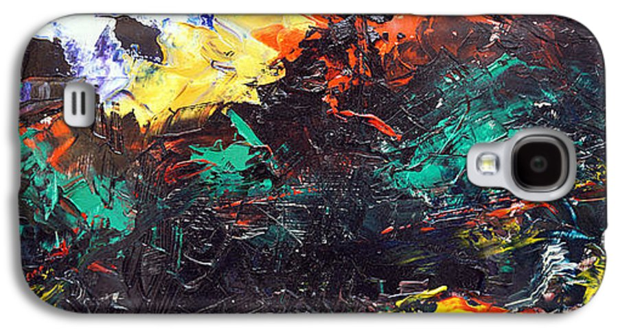Vision Galaxy S4 Case featuring the painting Schizophrenia by Sergey Bezhinets