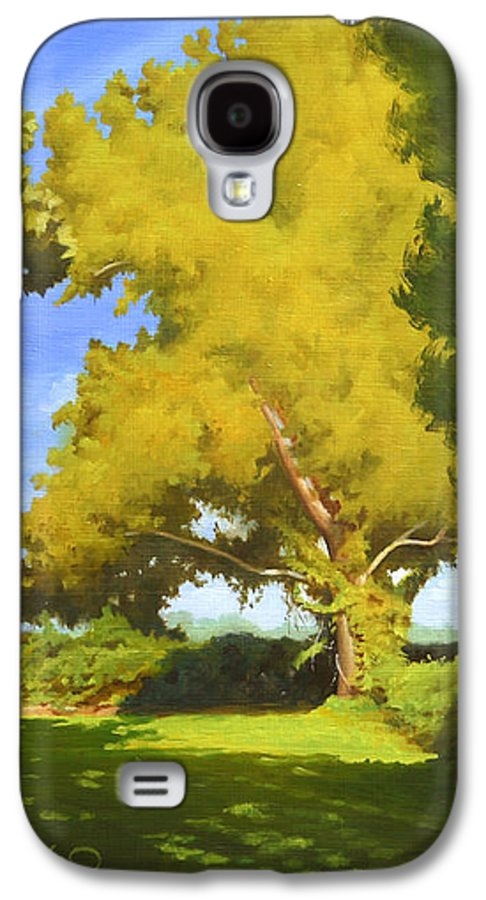 Sycamore Tree Galaxy S4 Case featuring the painting Sycamore by Gary Hernandez