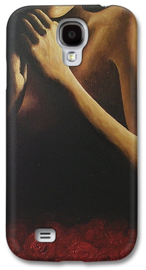 Nude Galaxy S4 Case featuring the painting Bed Of Roses 2 by Trisha Lambi