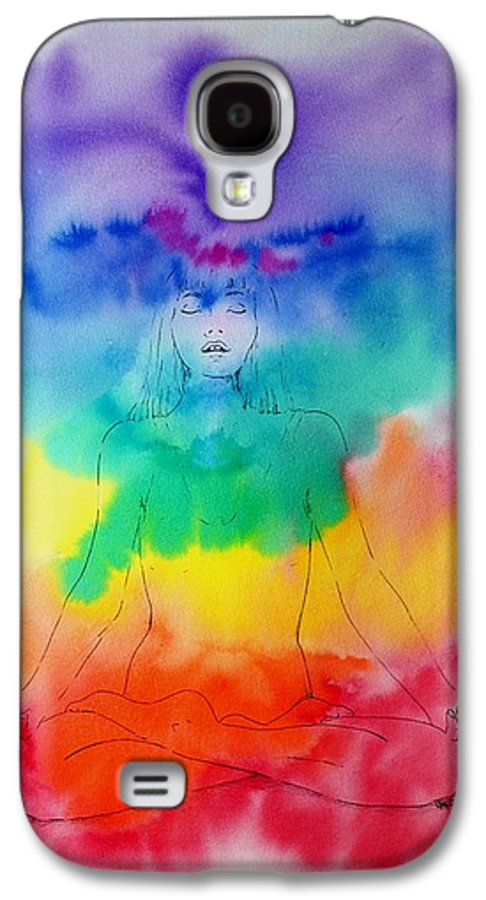 Colour Galaxy S4 Case featuring the painting Colour Meditation by Janice Gell
