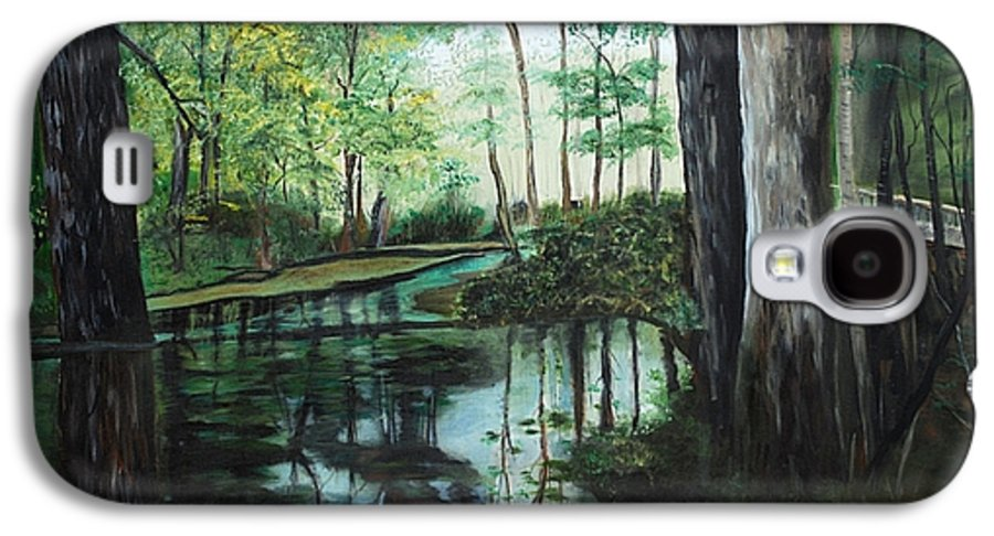 Landscape Galaxy S4 Case featuring the painting Ginny Springs by Margaret Fortunato