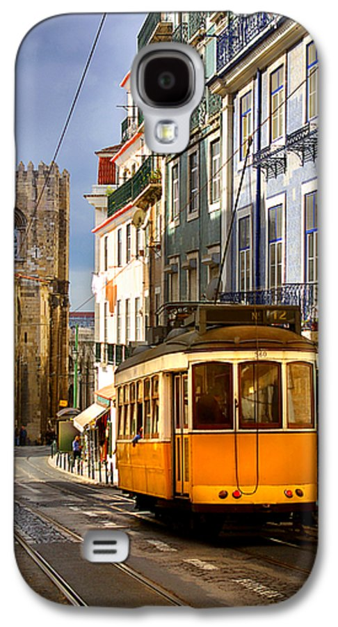 Ancient Galaxy S4 Case featuring the photograph Lisbon Tram by Carlos Caetano