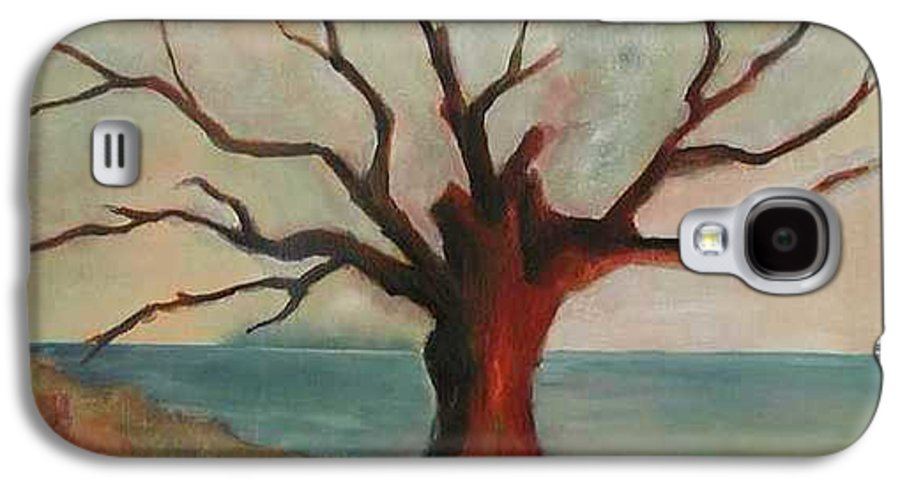 Oak Tree Inspired By Katrina Damage Along The Coast Galaxy S4 Case featuring the painting Lone Oak - Gulf Coast by Deborah Allison