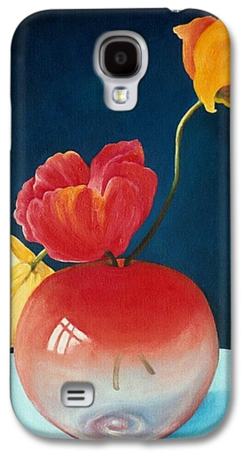 Still Life Galaxy S4 Case featuring the painting Poppies by Trisha Lambi