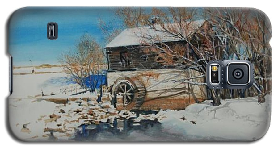 Mill Galaxy S5 Case featuring the painting Grants Old Mill by Susan Moore
