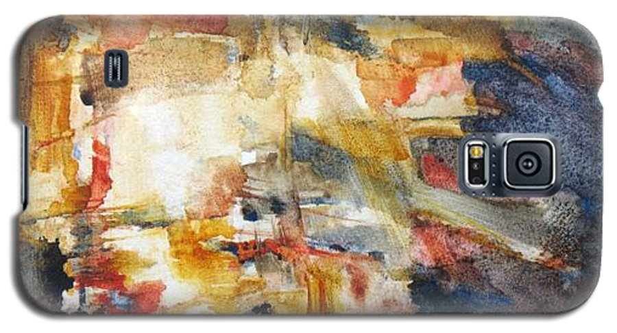 Abstract Galaxy S5 Case featuring the painting Illumination by Juanita Hagberg