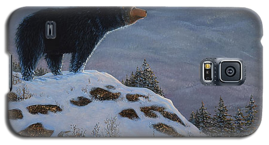 Wildlife Galaxy S5 Case featuring the painting Last Look Black Bear by Frank Wilson