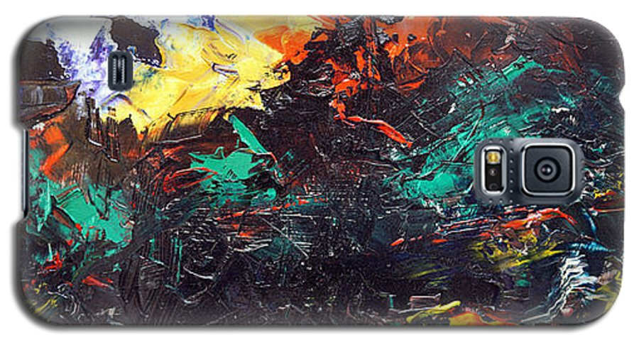 Vision Galaxy S5 Case featuring the painting Schizophrenia by Sergey Bezhinets