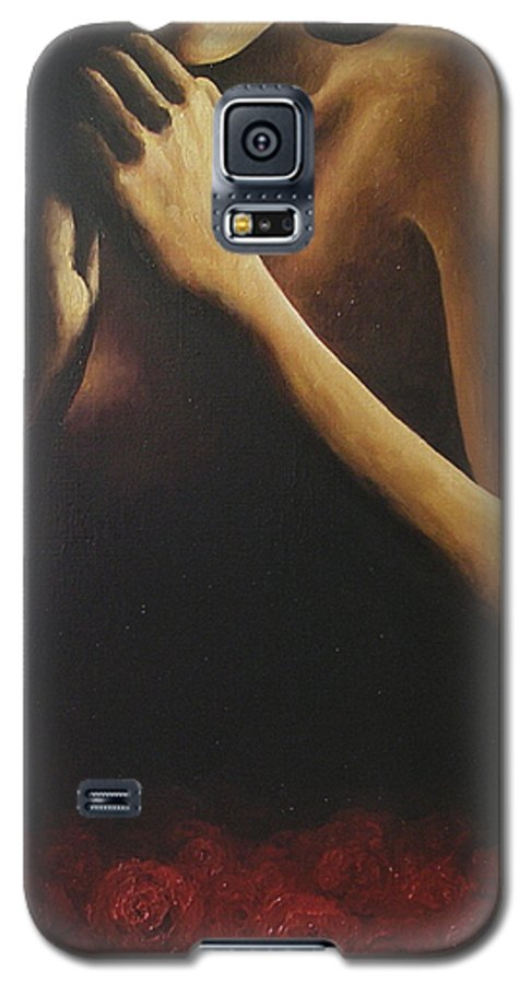 Nude Galaxy S5 Case featuring the painting Bed Of Roses 2 by Trisha Lambi
