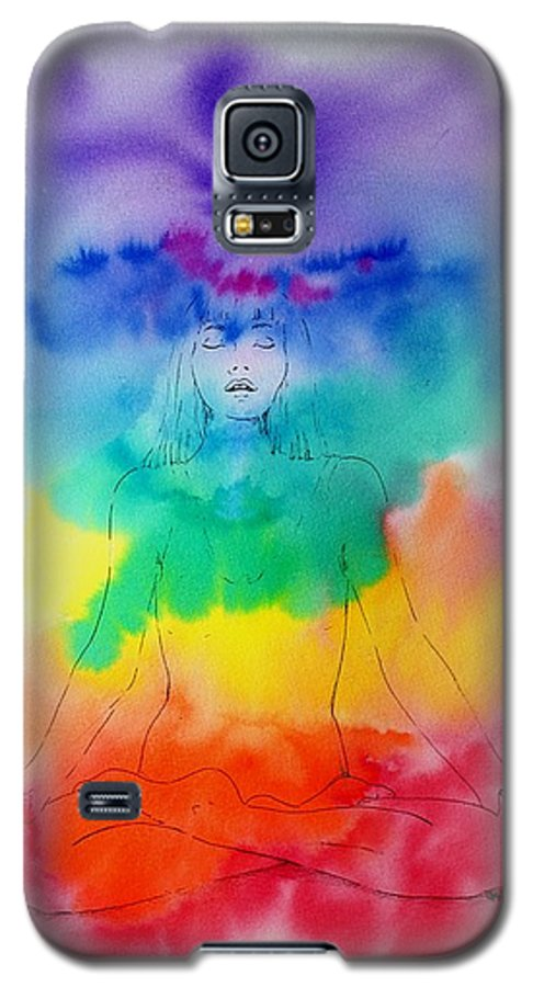 Colour Galaxy S5 Case featuring the painting Colour Meditation by Janice Gell