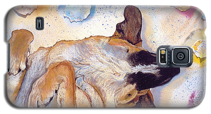 Sleeping Dog Galaxy S5 Case featuring the painting Dog Dreams by Pat Saunders-White