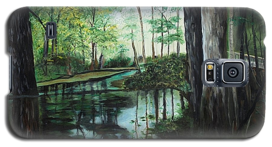 Landscape Galaxy S5 Case featuring the painting Ginny Springs by Margaret Fortunato