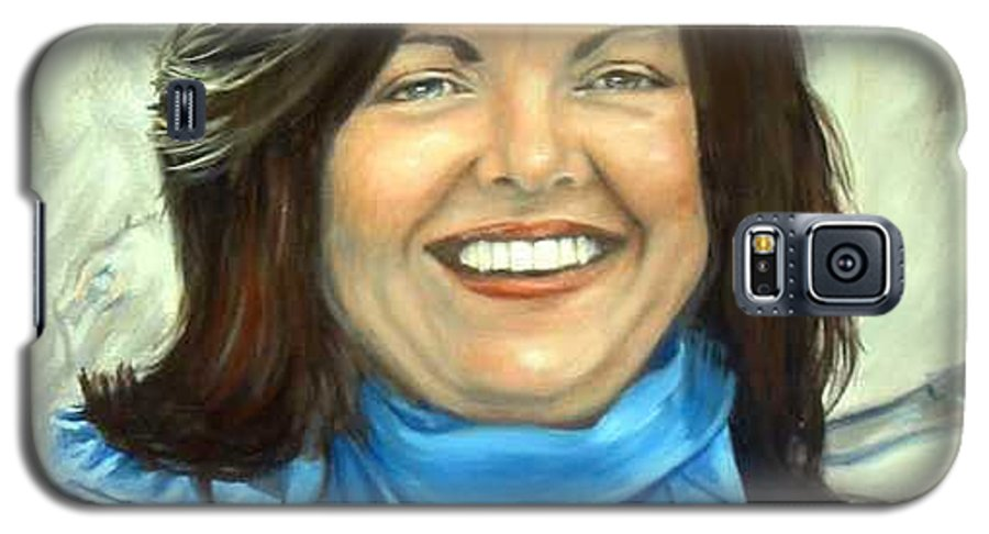 Galaxy S5 Case featuring the painting Leslie Eliason by Anne Kushnick