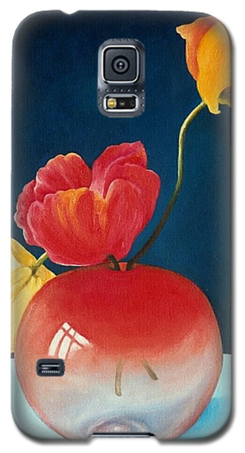 Still Life Galaxy S5 Case featuring the painting Poppies by Trisha Lambi