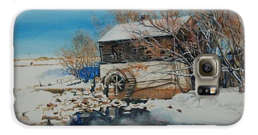 Mill Galaxy S6 Case featuring the painting Grants Old Mill by Susan Moore