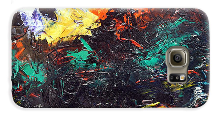 Vision Galaxy S6 Case featuring the painting Schizophrenia by Sergey Bezhinets