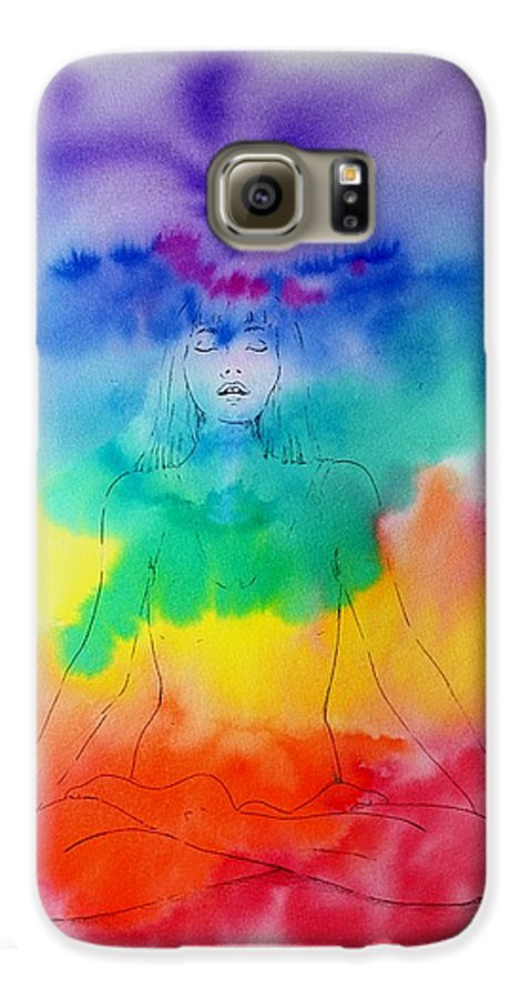 Colour Galaxy S6 Case featuring the painting Colour Meditation by Janice Gell