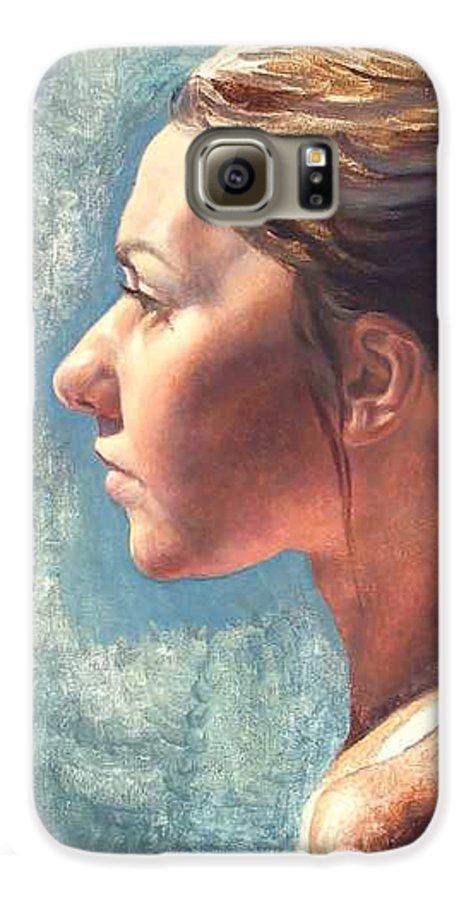 Portrait Galaxy S6 Case featuring the painting Fresh Pose by Deborah Allison
