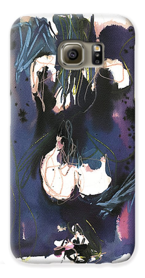 Figure Galaxy S6 Case featuring the painting Kneeling by Robert Joyner