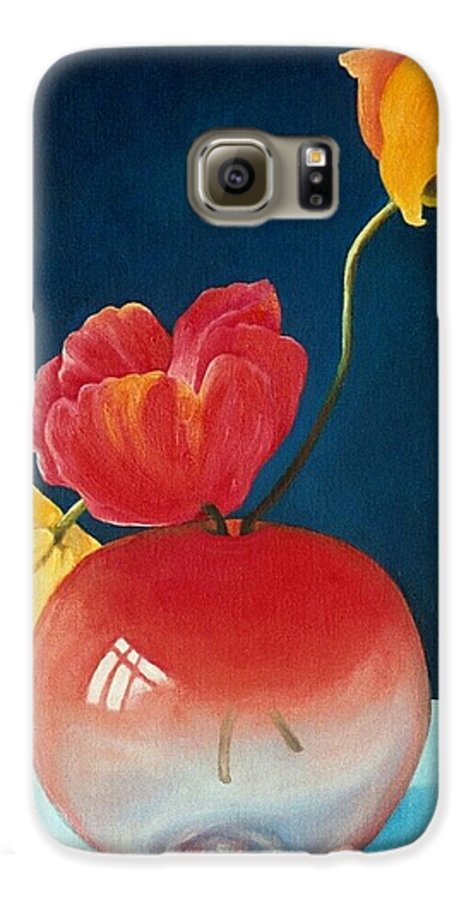 Still Life Galaxy S6 Case featuring the painting Poppies by Trisha Lambi