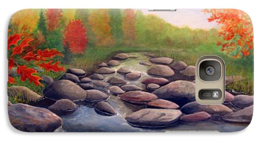 Rick Huotari Galaxy S7 Case featuring the painting Cherokee Park by Rick Huotari