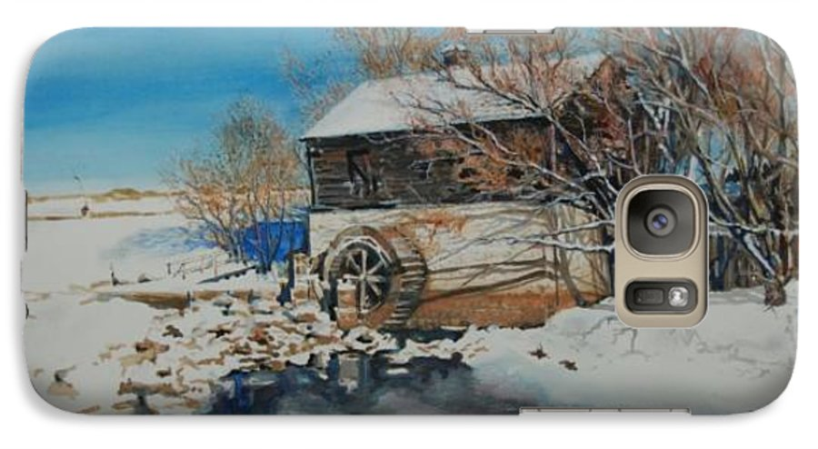 Mill Galaxy S7 Case featuring the painting Grants Old Mill by Susan Moore