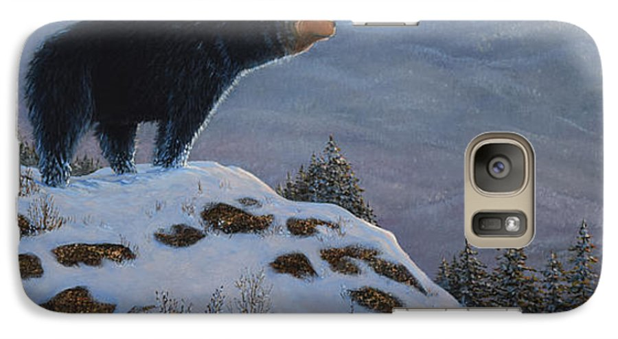 Wildlife Galaxy S7 Case featuring the painting Last Look Black Bear by Frank Wilson