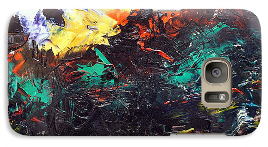 Vision Galaxy S7 Case featuring the painting Schizophrenia by Sergey Bezhinets