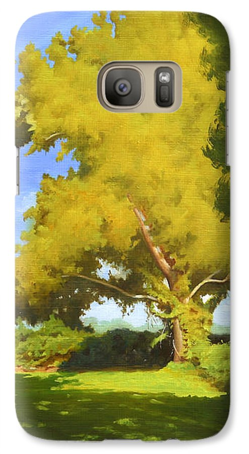 Sycamore Tree Galaxy S7 Case featuring the painting Sycamore by Gary Hernandez