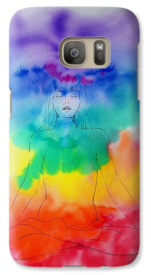 Colour Galaxy S7 Case featuring the painting Colour Meditation by Janice Gell
