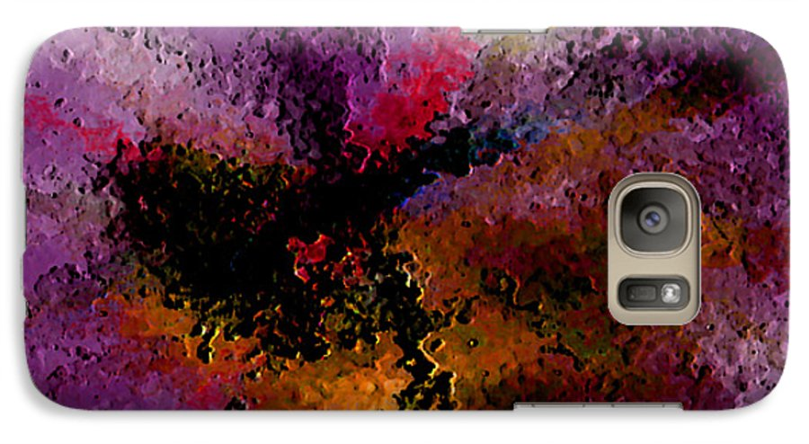Abstract Galaxy S7 Case featuring the digital art Damaged But Not Broken by Ruth Palmer