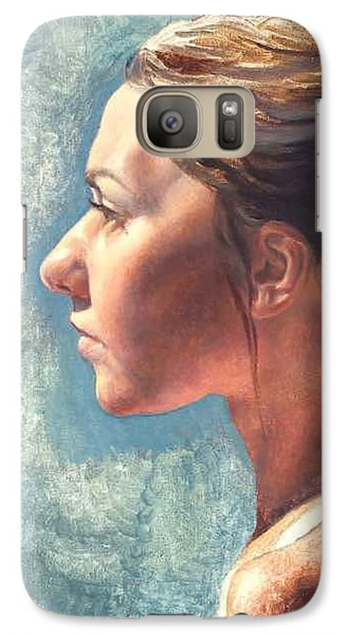 Portrait Galaxy S7 Case featuring the painting Fresh Pose by Deborah Allison