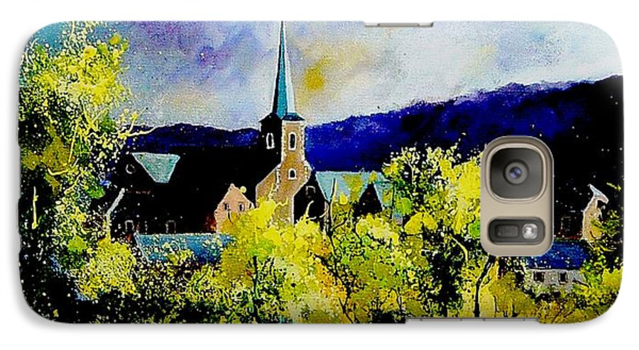 Poppies Galaxy S7 Case featuring the painting Hour Village Belgium by Pol Ledent