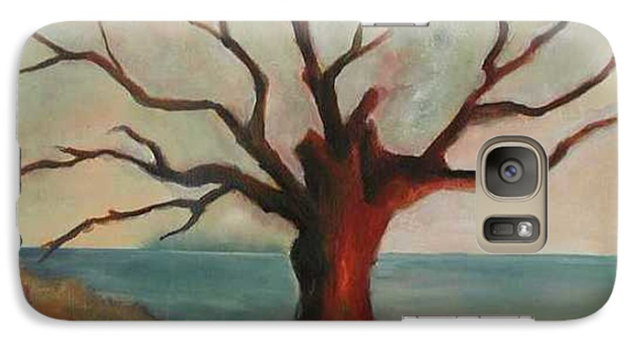Oak Tree Inspired By Katrina Damage Along The Coast Galaxy S7 Case featuring the painting Lone Oak - Gulf Coast by Deborah Allison