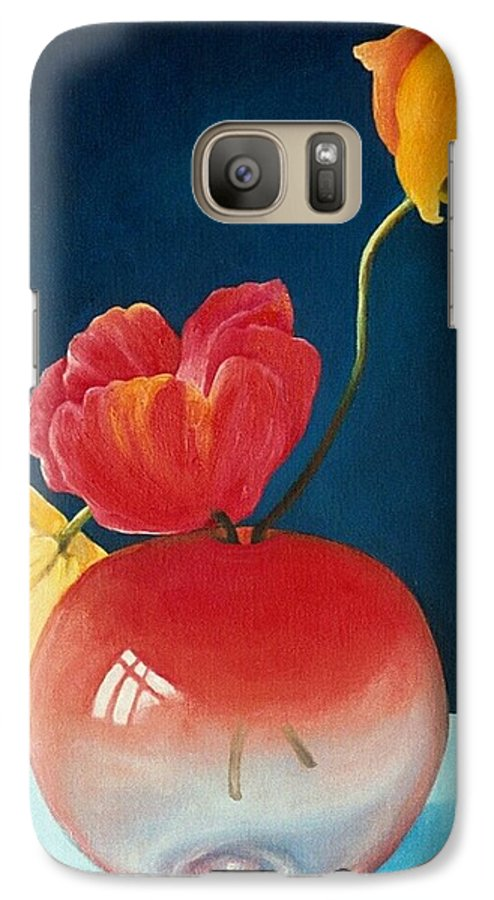 Still Life Galaxy S7 Case featuring the painting Poppies by Trisha Lambi