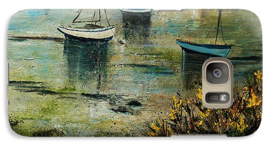 Seascape Galaxy S7 Case featuring the print Seascape 78 by Pol Ledent