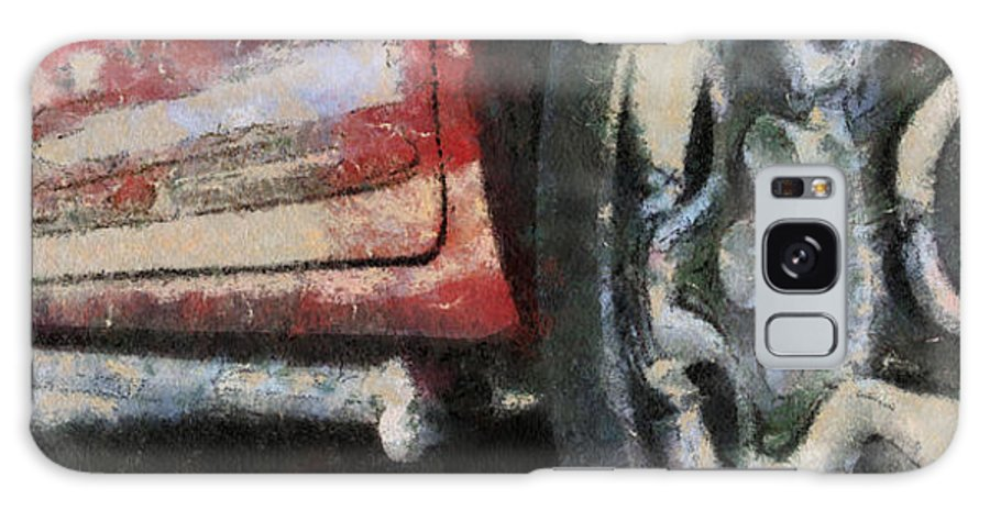 Aluminum Galaxy S8 Case featuring the photograph Car Rims 02 Photo Art 03 by Thomas Woolworth