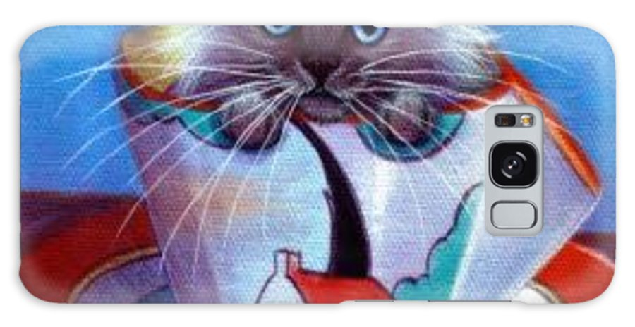Whimsy Galaxy Case featuring the painting Clarice Cliff Tea Time Himi by L Risor