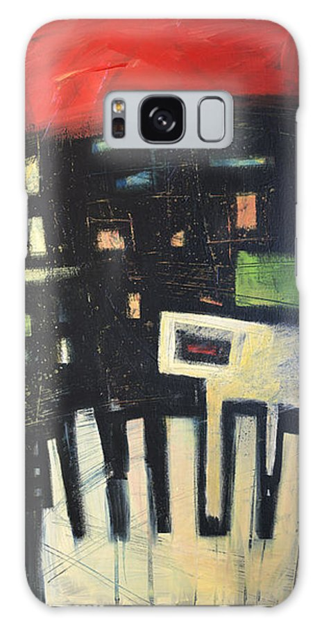 Abstract Galaxy Case featuring the painting D Flat by Tim Nyberg