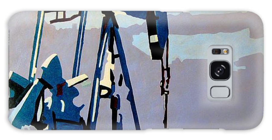 Oil Galaxy Case featuring the painting Oil Pump by Diana Moya