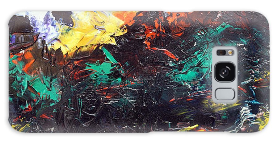 Vision Galaxy S8 Case featuring the painting Schizophrenia by Sergey Bezhinets