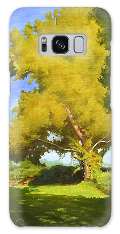 Sycamore Tree Galaxy Case featuring the painting Sycamore by Gary Hernandez