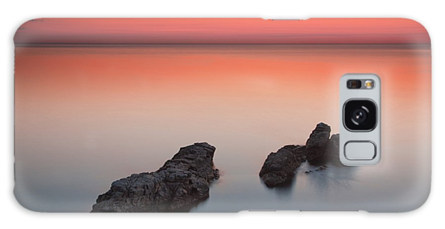 Sea Galaxy S8 Case featuring the photograph Sea Rocks by Evgeni Dinev