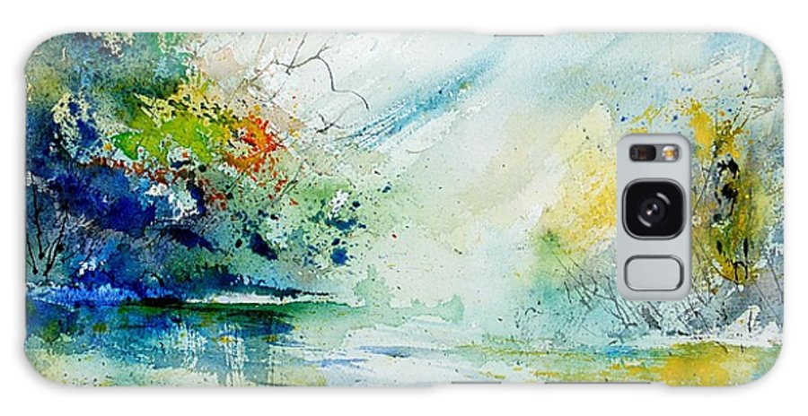 Water Galaxy Case featuring the painting Watercolor 903022 by Pol Ledent