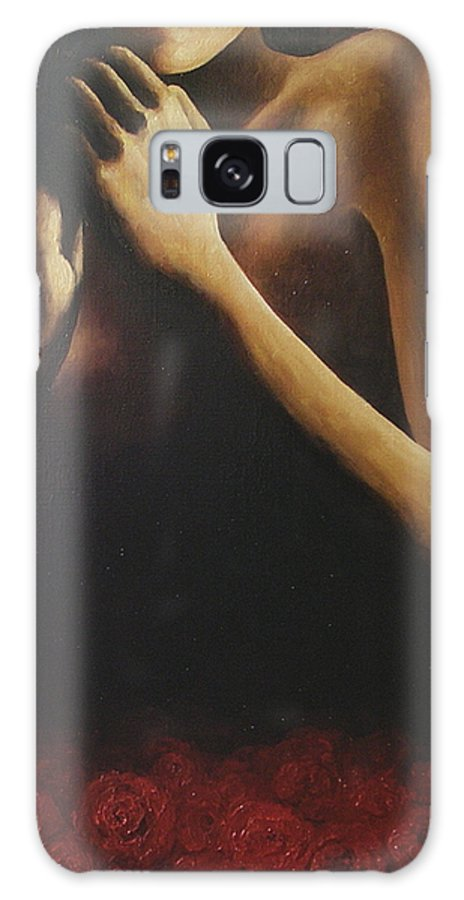 Nude Galaxy S8 Case featuring the painting Bed Of Roses 2 by Trisha Lambi