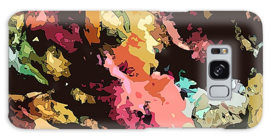 Abstract Galaxy Case featuring the mixed media Celebration by Susan Kubes