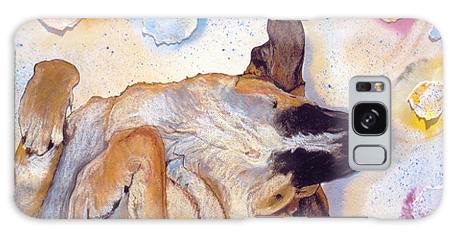 Sleeping Dog Galaxy S8 Case featuring the painting Dog Dreams by Pat Saunders-White